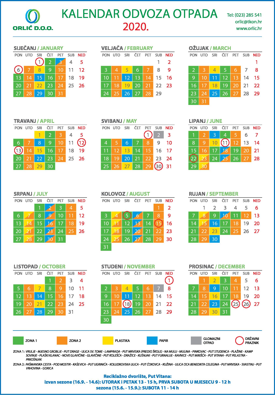 Tkon - kalendar-odvoza-otpada-2020